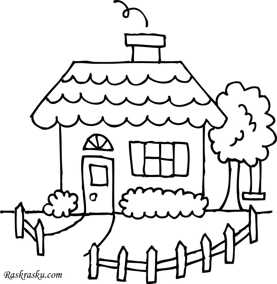 Раскраска Детский домик. Скачать Дом.  Распечатать Дом