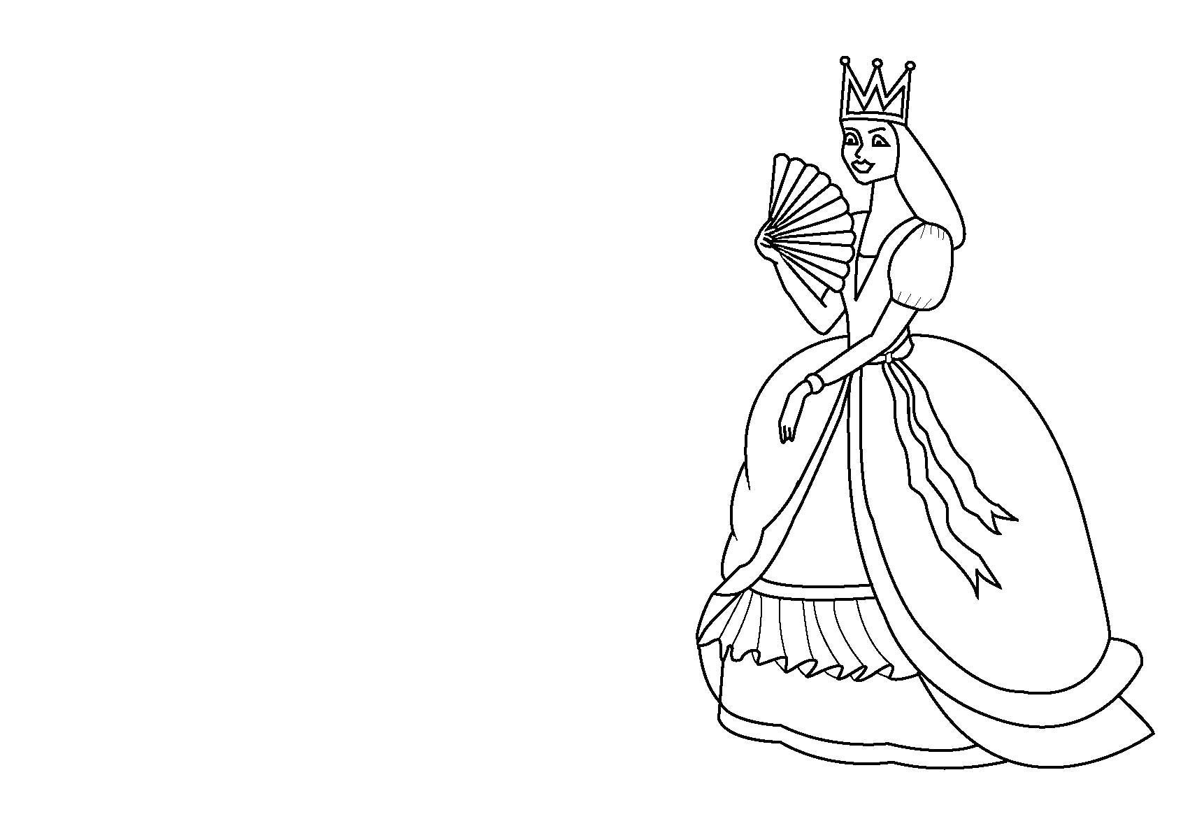 Раскраска  с принцессами. Скачать принцесса.  Распечатать принцесса
