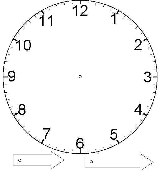Раскраска Часы из тарелки - поделка своими руками. Скачать Часы.  Распечатать Часы