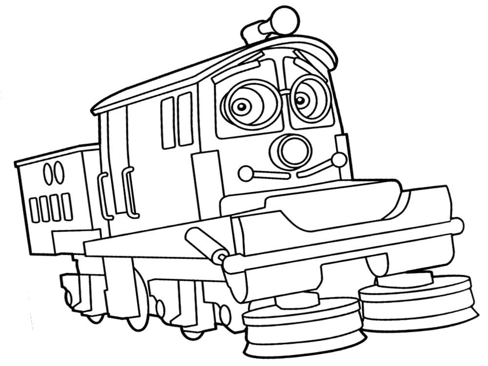 Раскраска  с Чаггингтон  для детей. Скачать Чаггингтон.  Распечатать Чаггингтон