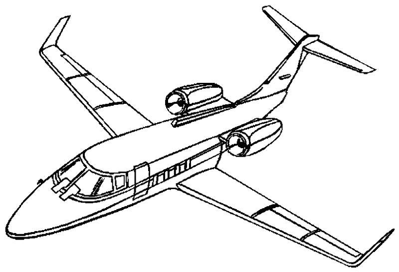 Раскраска Самолет,  . Скачать Транспорт.  Распечатать Транспорт