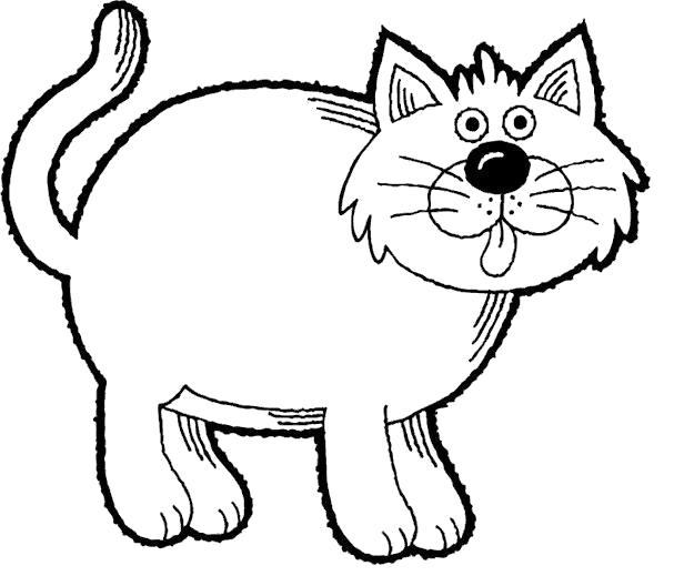 Раскраска Пухлый котик. Скачать .  Распечатать
