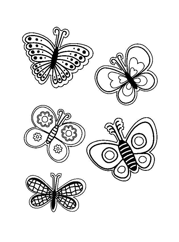 Раскраска бабочки, бабочки летают. Скачать Весна.  Распечатать Весна