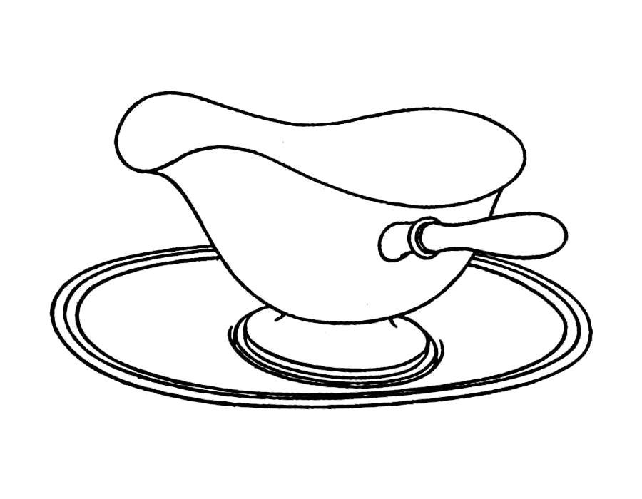 Раскраска  посуда. Скачать посуда.  Распечатать посуда