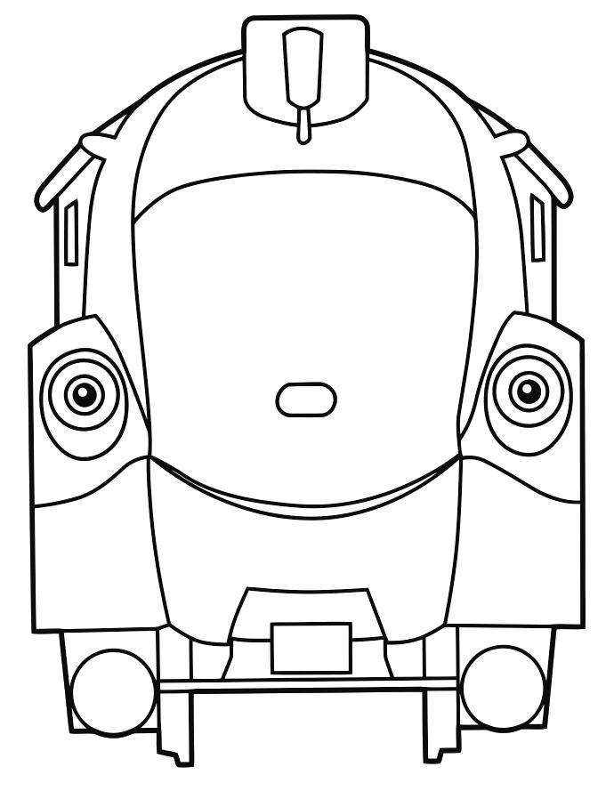 Раскраска Машинка из мультфильма. Скачать .  Распечатать
