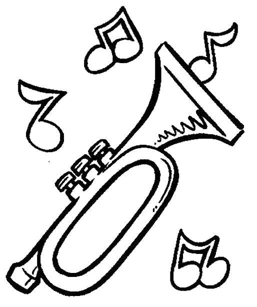 Раскраска  Дудка музыкальные инструменты.. Скачать .  Распечатать