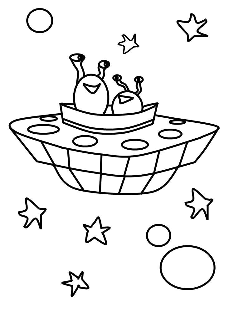 Раскраска Пришельцы. Скачать день космонавтики.  Распечатать день космонавтики