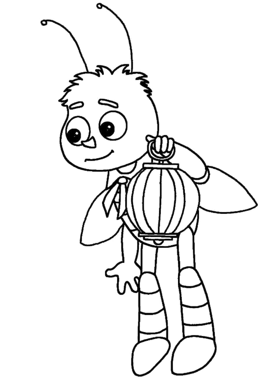 Раскраска Детская  Лунтик и его друзья. Скачать Мила.  Распечатать Лунтик