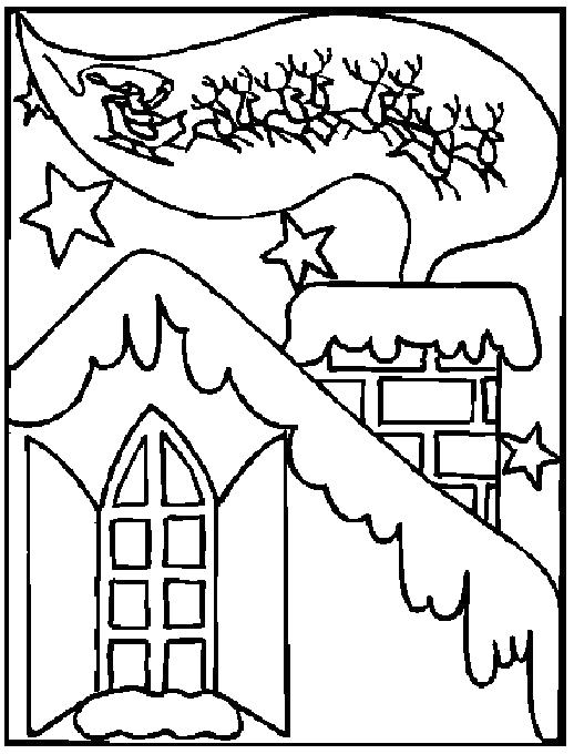 Раскраска Зимняя сказка. Скачать Зима.  Распечатать Времена года