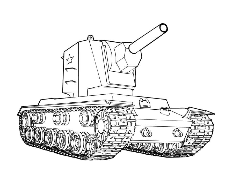 Раскраска  танки. Скачать .  Распечатать