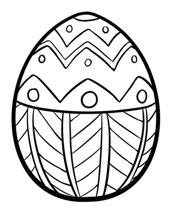 Раскраска Узорное яйцо. Скачать .  Распечатать