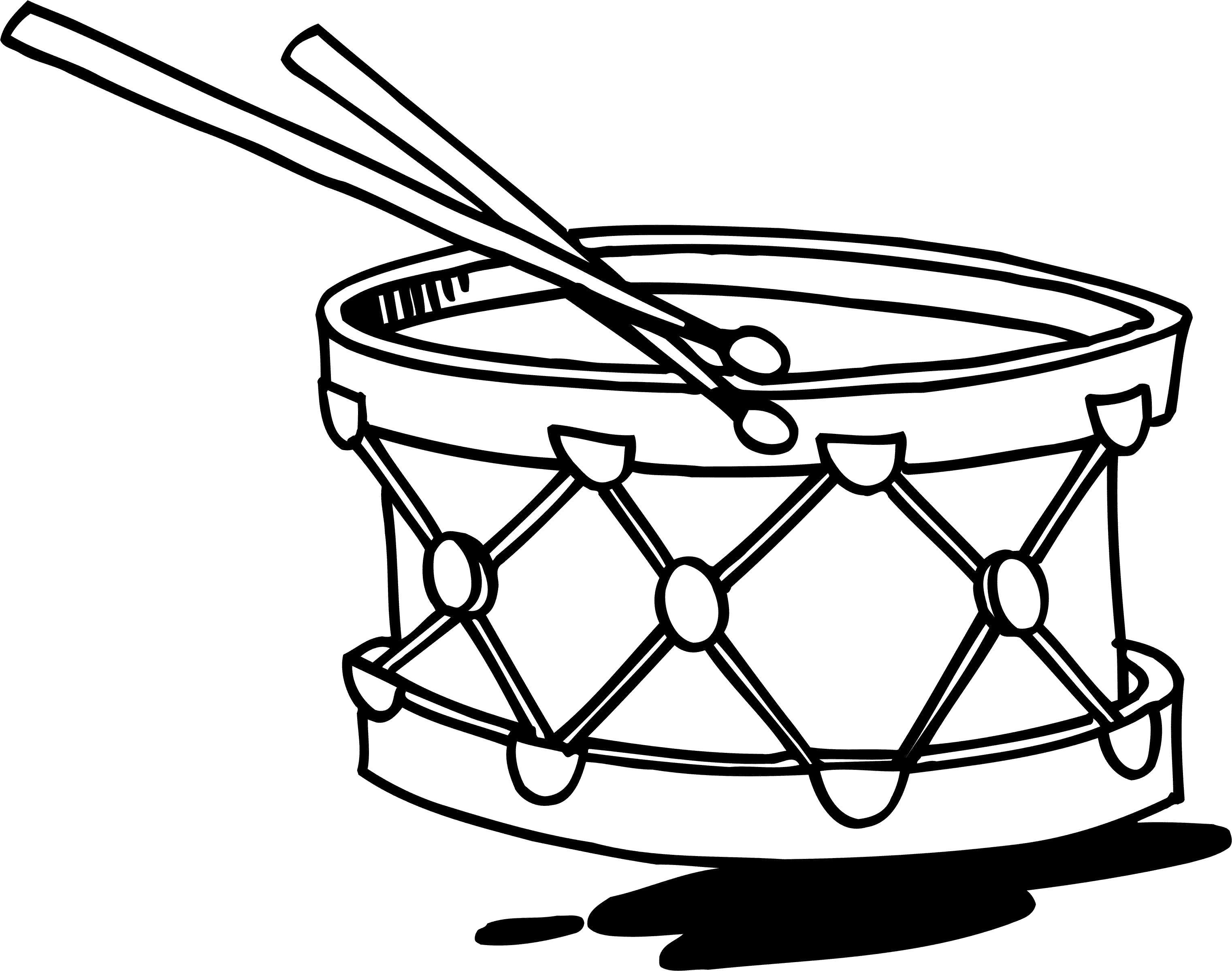 Раскраска Детский барабан. Скачать Барабан.  Распечатать Барабан