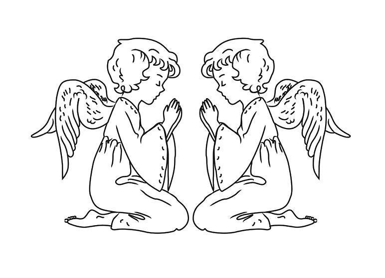 Раскраска как нарисовать ангела 21. Скачать Как нарисовать.  Распечатать Как нарисовать