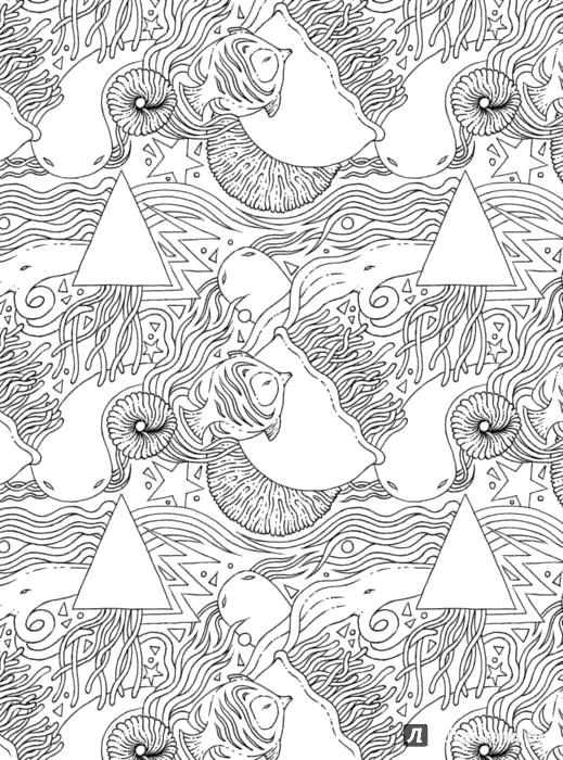 Раскраска  Моретерапия. -антистресс для взрослых | Лабиринт - книги. Источник: Лабиринт. Скачать природа.  Распечатать антистресс