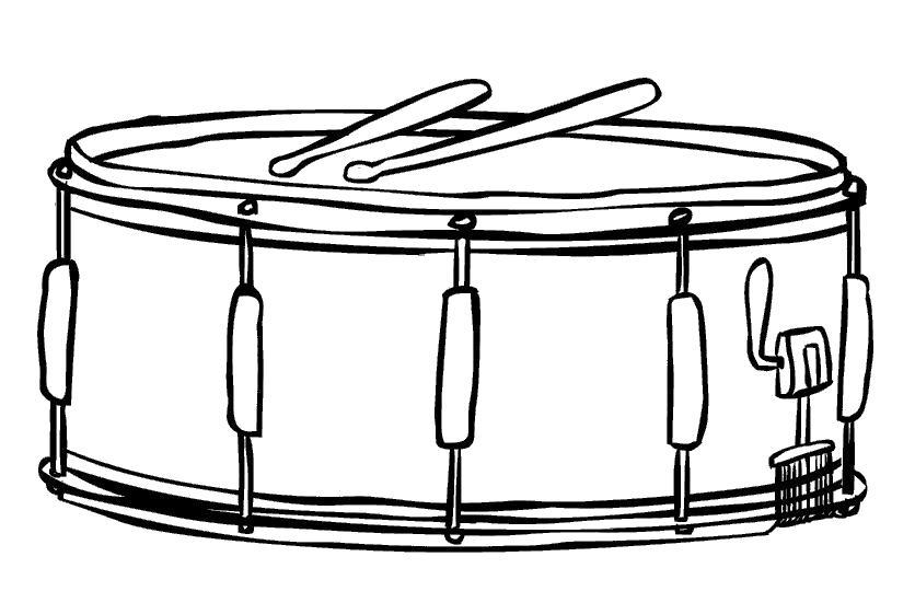 Раскраска игрушка барабан. Скачать Барабан.  Распечатать Барабан
