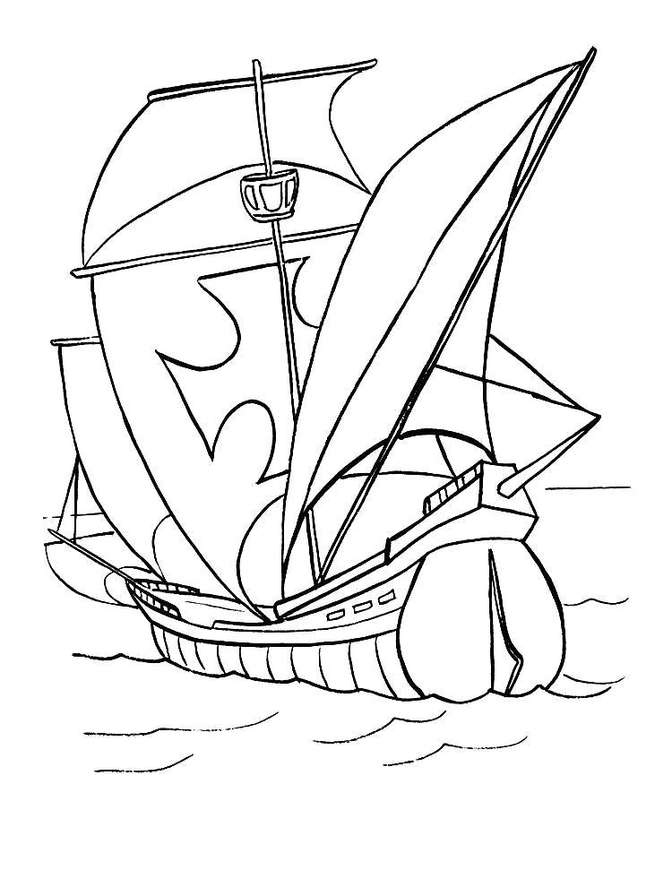 Раскраска Корабль крестоносцев. Скачать корабли.  Распечатать корабли