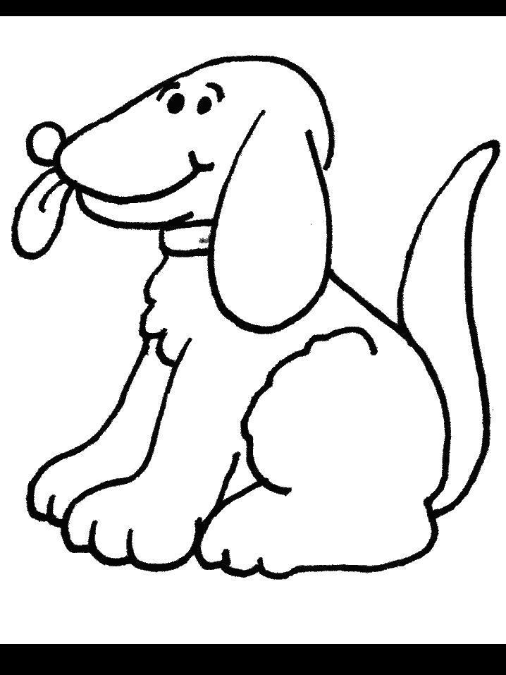 Раскраска - Кучерявый пес. Скачать .  Распечатать