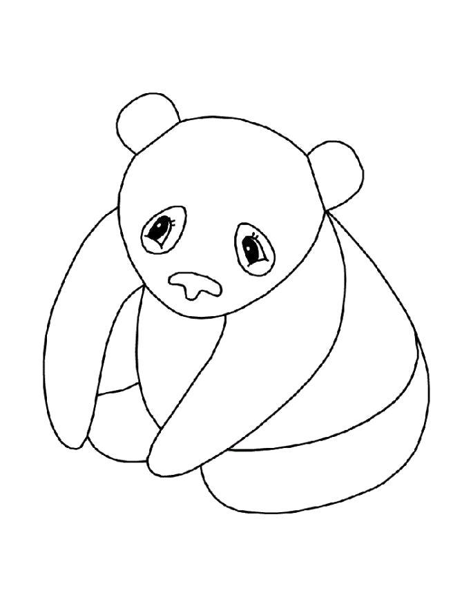 Раскраска  Панда детская. Скачать Панда.  Распечатать Панда