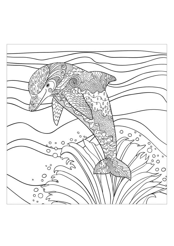 Раскраска  для взрослых: Новые картинки. Скачать животные.  Распечатать антистресс