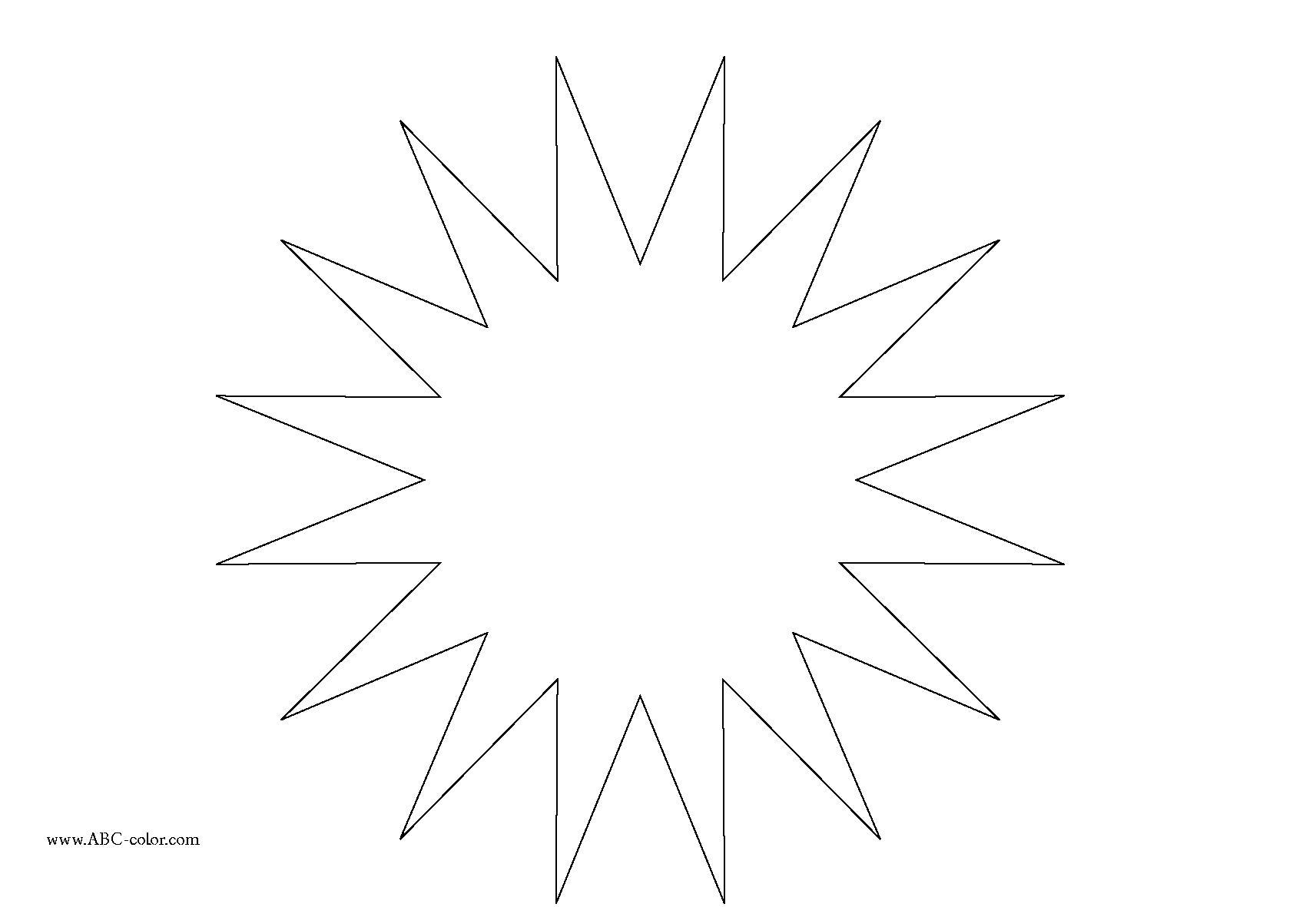 Раскраска звезда . Скачать звезда.  Распечатать геометрические фигуры