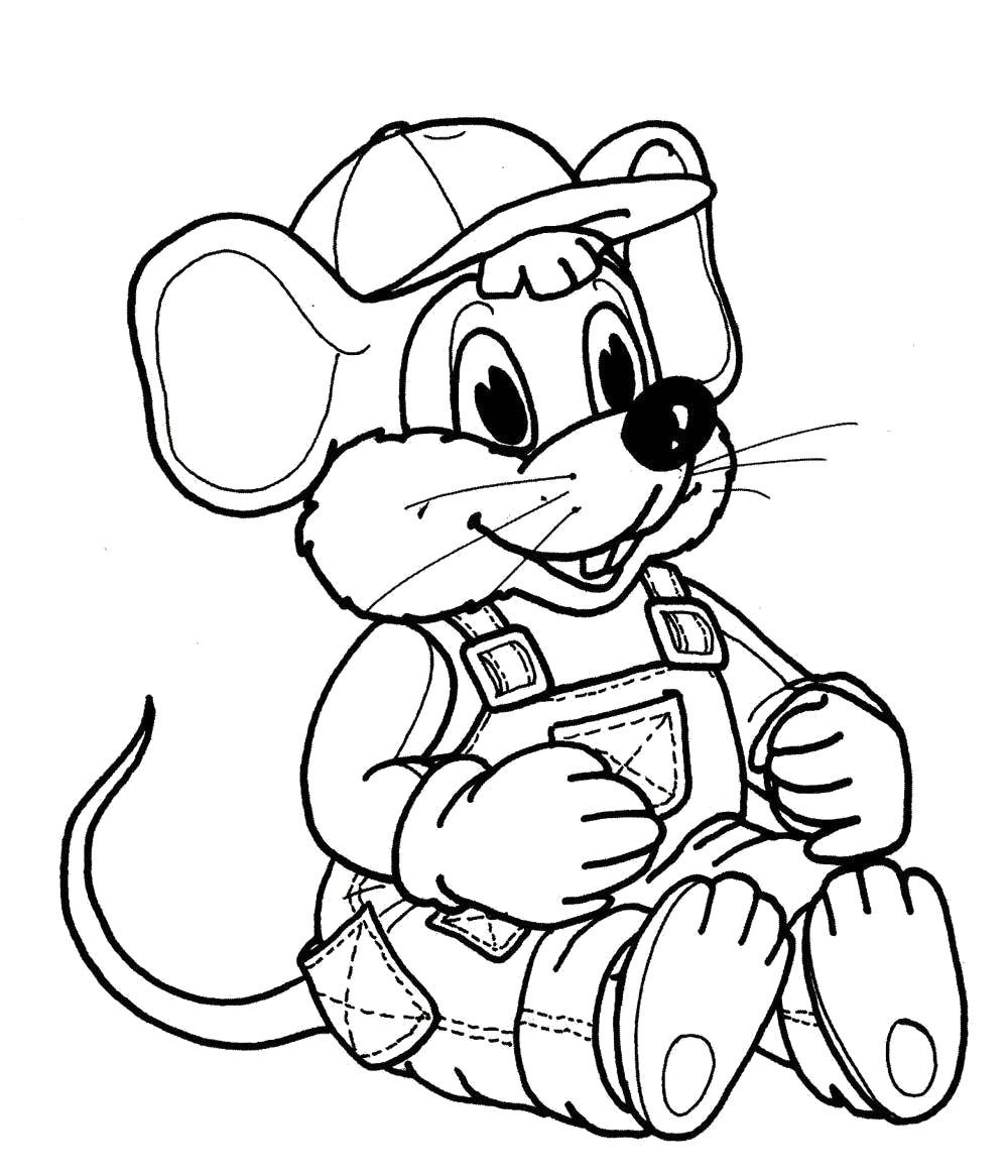 """Раскраска  """"мышка"""" . Скачать .  Распечатать"""