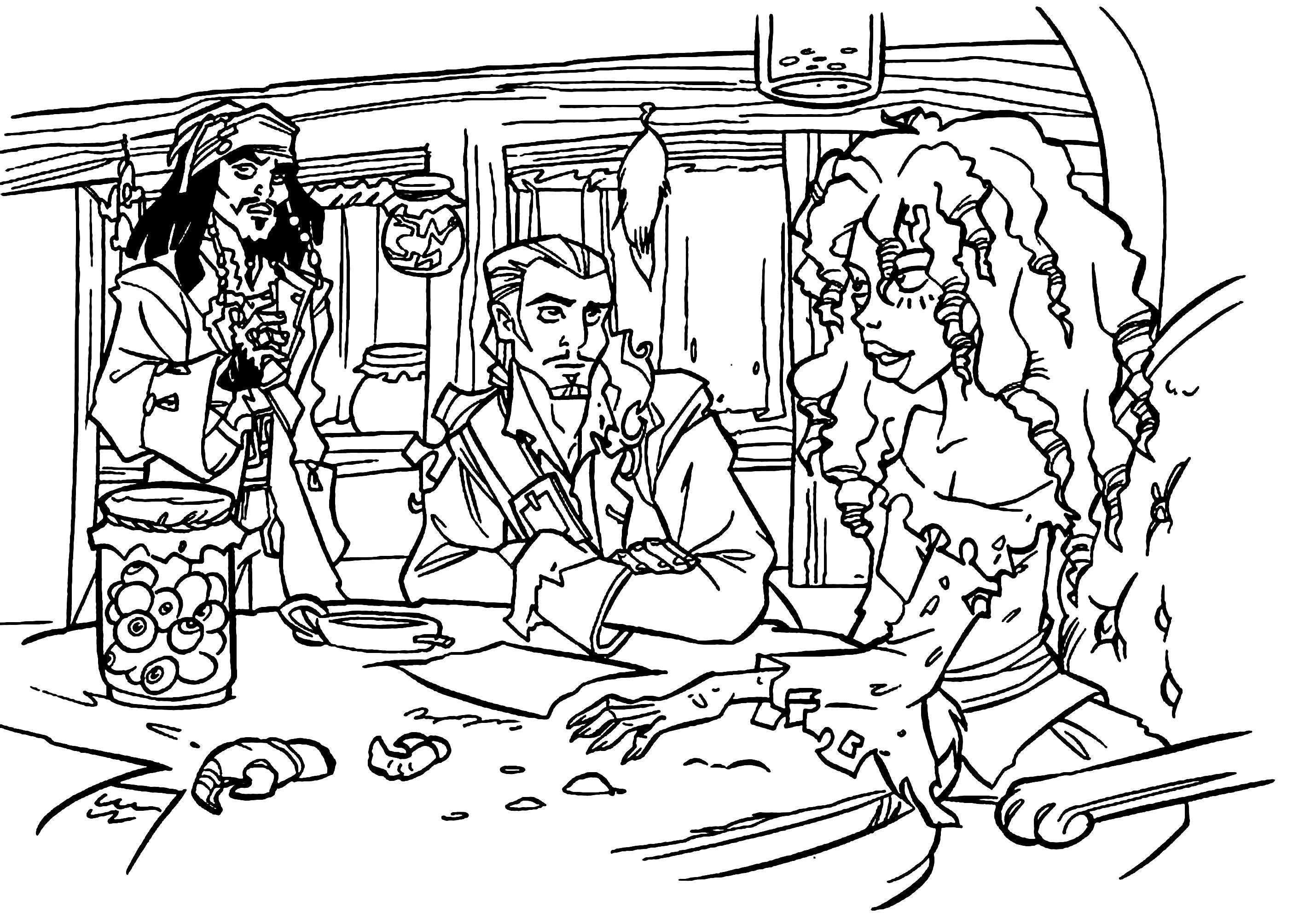Раскраска Пираты. Скачать Пират.  Распечатать Пират