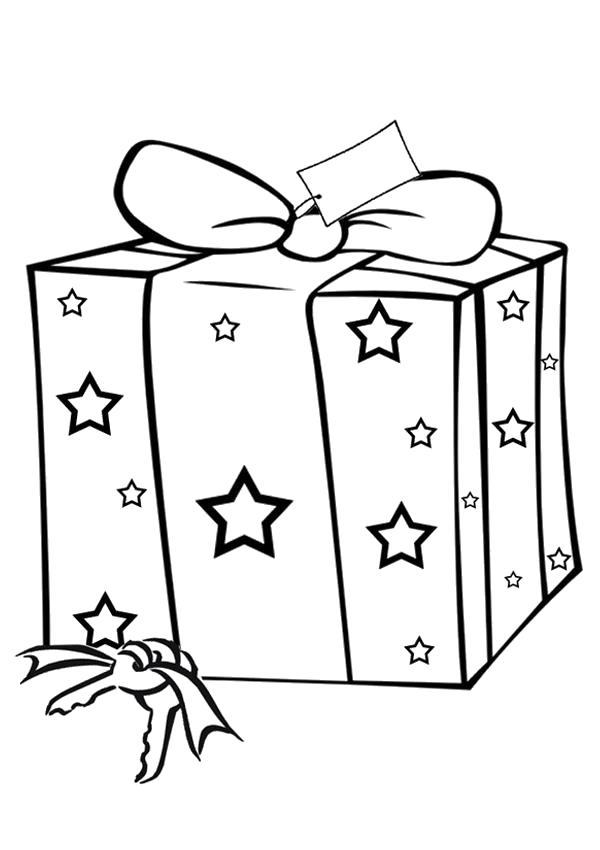 Раскраска  подарок. Скачать Подарки.  Распечатать Подарки
