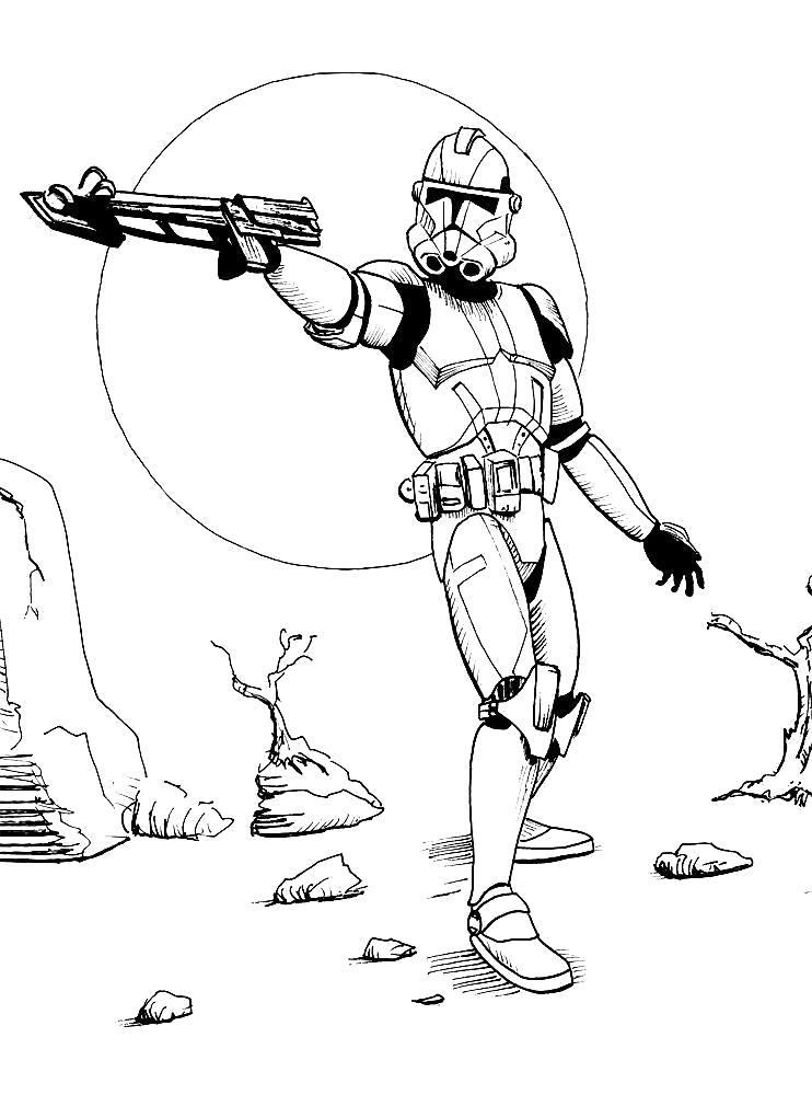 Раскраска Скачать и распечатать  звездные войны для детей бесплатно. Скачать Звездные войны.  Распечатать Звездные войны