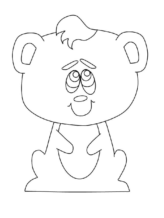 Раскраска  Мишка детская. Скачать Мишка.  Распечатать Мишка