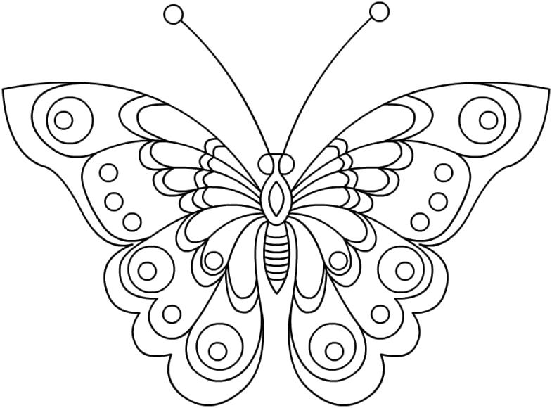 Раскраска Волшебная бабочка. Скачать .  Распечатать