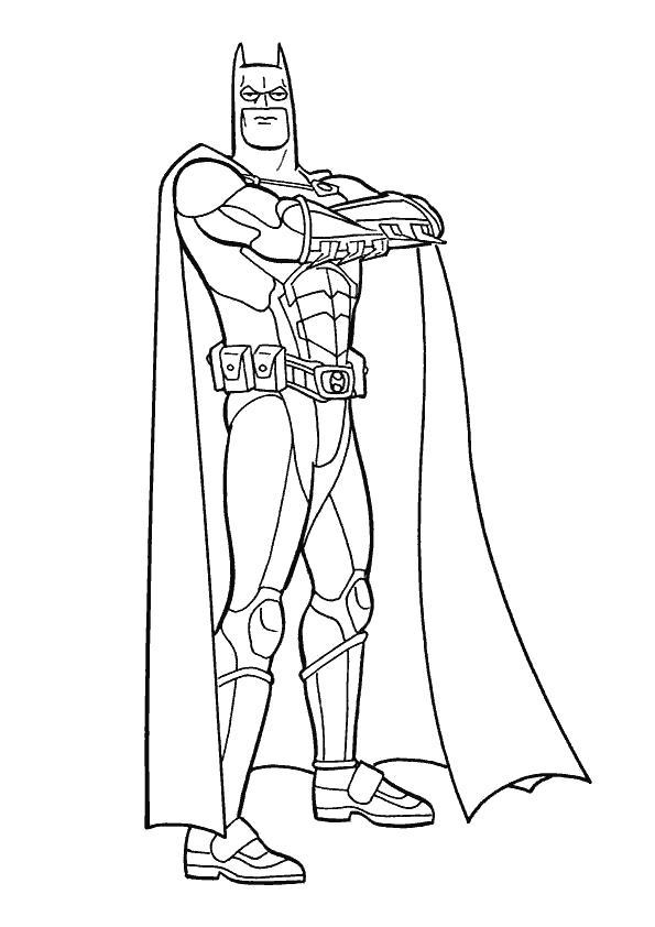Раскраска Темный рыцарь. Скачать Бэтмен.  Распечатать Бэтмен