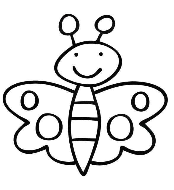 Раскраска Бабочка. Скачать Бабочки.  Распечатать Насекомые