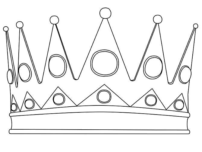 Раскраска корона, королевская корона, золотая корона. Скачать Корона.  Распечатать Корона