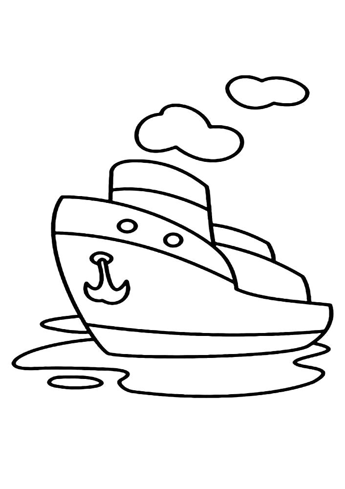 Раскраска Корабль. Скачать корабли.  Распечатать корабли