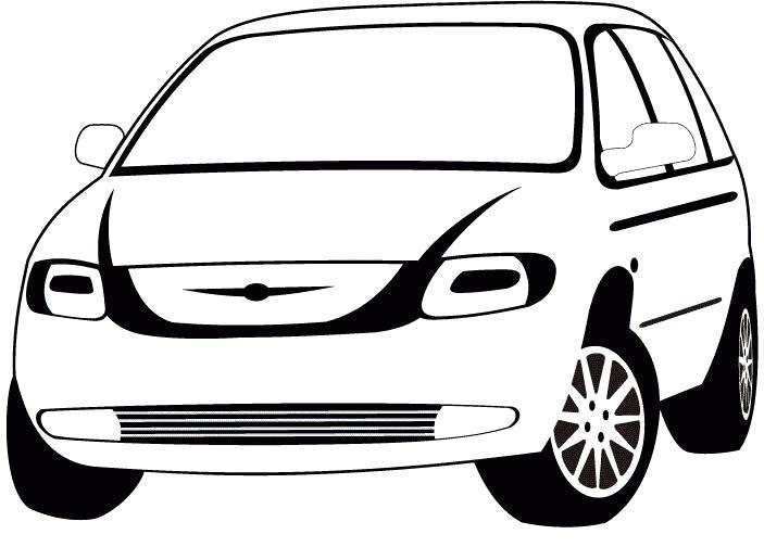 Раскраска Картинка машины для  цветными карандашами или гуашью. Скачать .  Распечатать