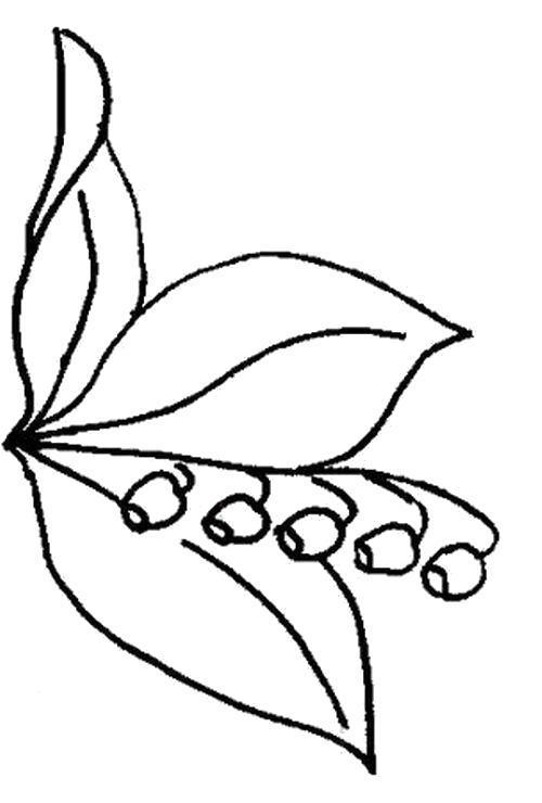 Название: Раскраска  Нарисованные ландыши. Категория: Цветы. Теги: Цветы.