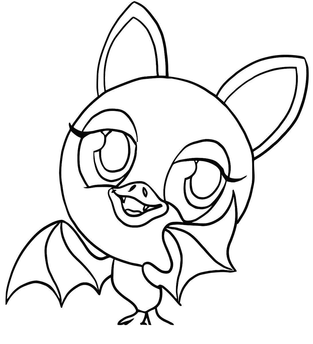 Раскраска летучая мышка. Скачать зублс.  Распечатать зублс