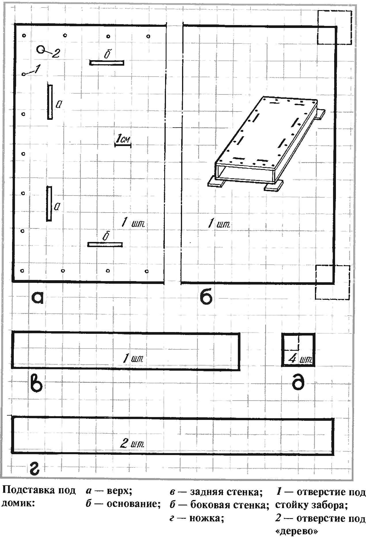 Раскраска Домик - шкатулка для рукодельницы. Скачать .  Распечатать
