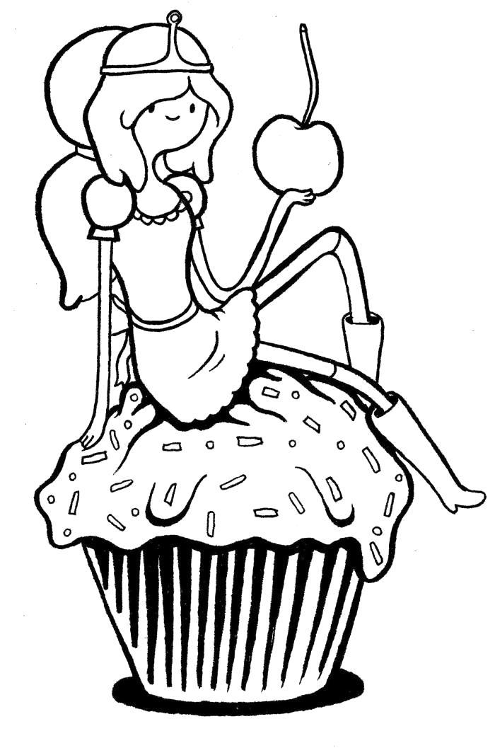 Раскраска Принцесса Бубльгум. Скачать принцесса бубльгум.  Распечатать Время приключений