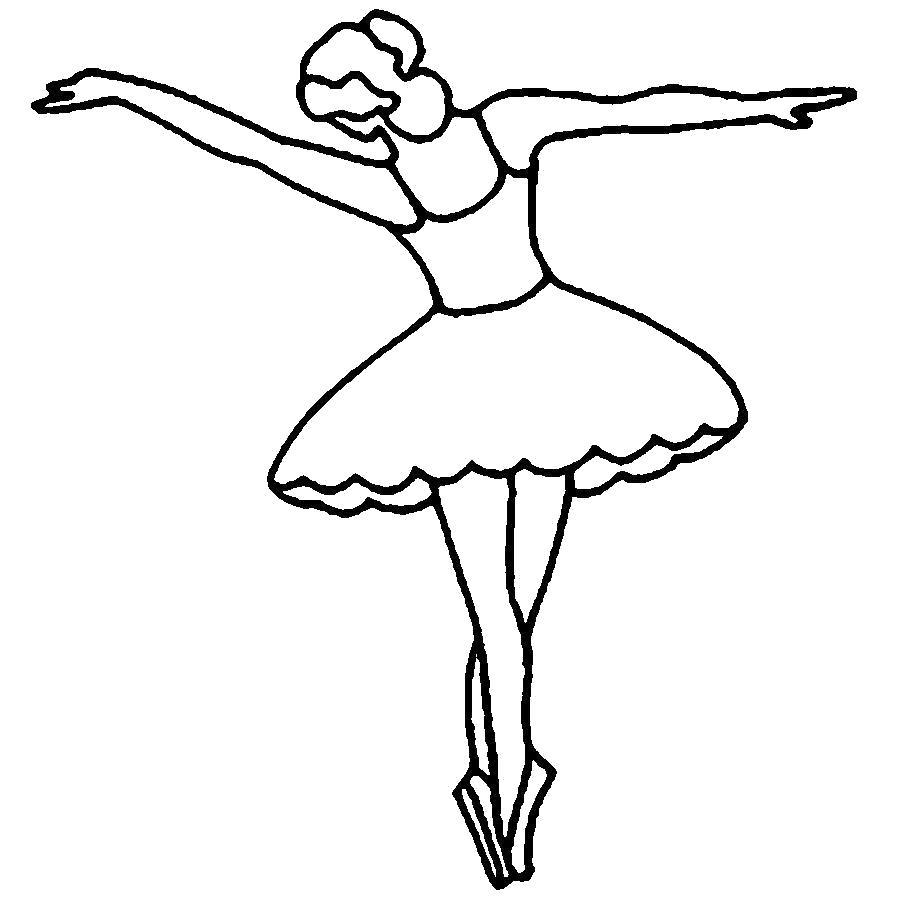 Раскраска  шаблоны балерин балерина выкройка из бумаги для детей. Скачать Шаблон.  Распечатать Шаблон