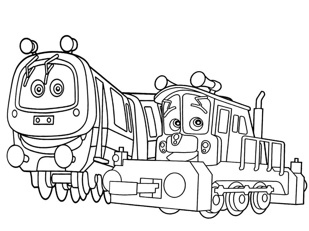 Раскраска Чаггингтон  и любимые персонажи на х. Скачать Чаггингтон.  Распечатать Чаггингтон