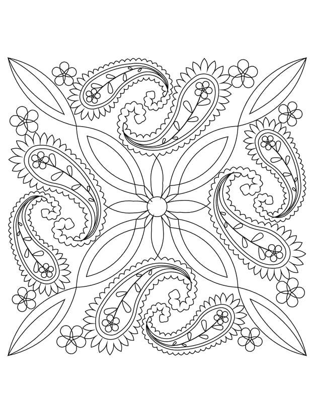 Раскраска  Узоры для детей. Скачать узоры, цветы.  Распечатать антистресс