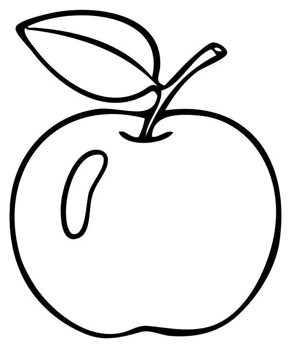 Раскраска Яблоко наливное. Скачать яблоко.  Распечатать Фрукты