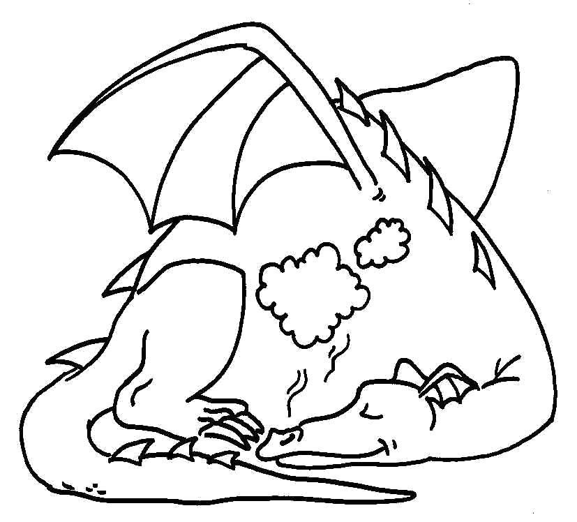 Раскраска Дракон. Скачать .  Распечатать