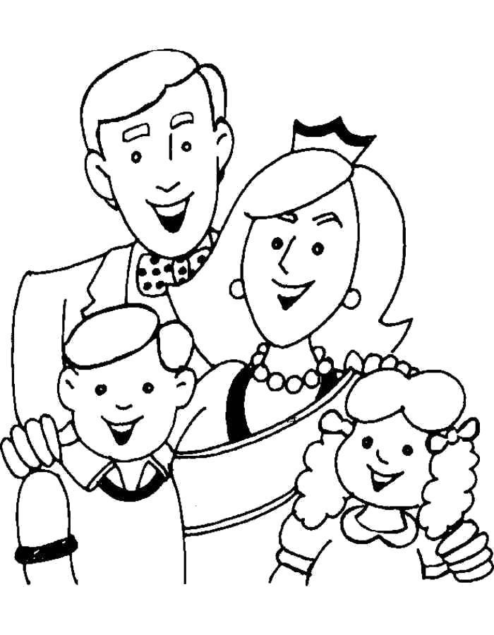 Раскраска Королевская  семья. Скачать .  Распечатать