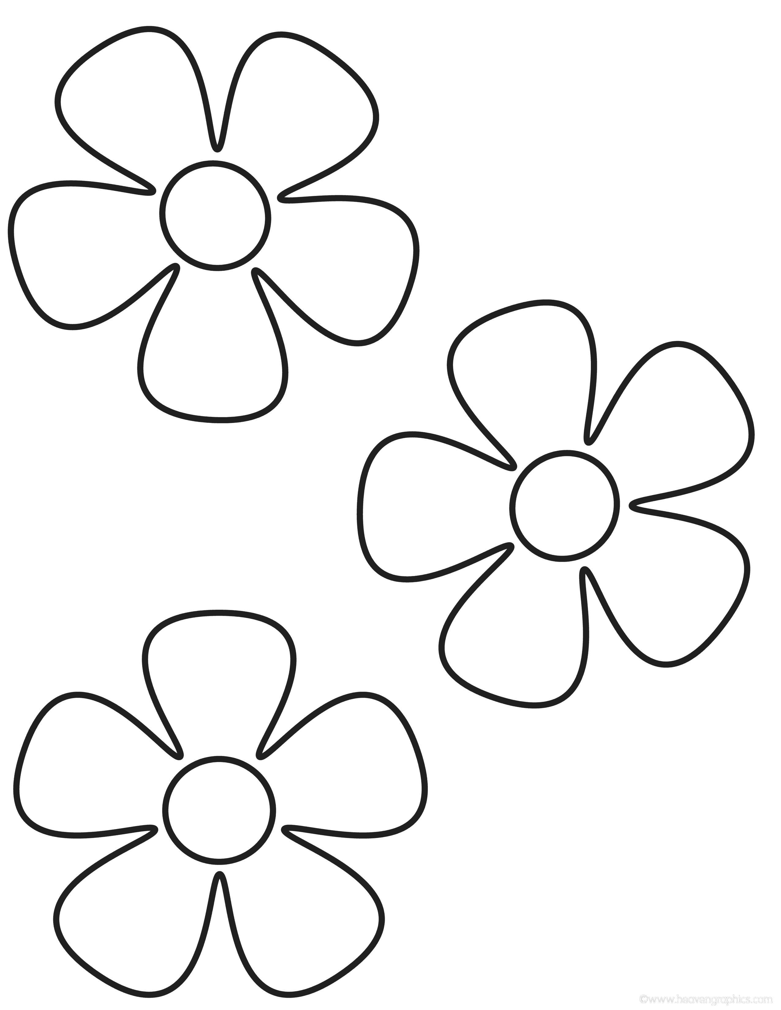 Распечатать цветок на весь лист