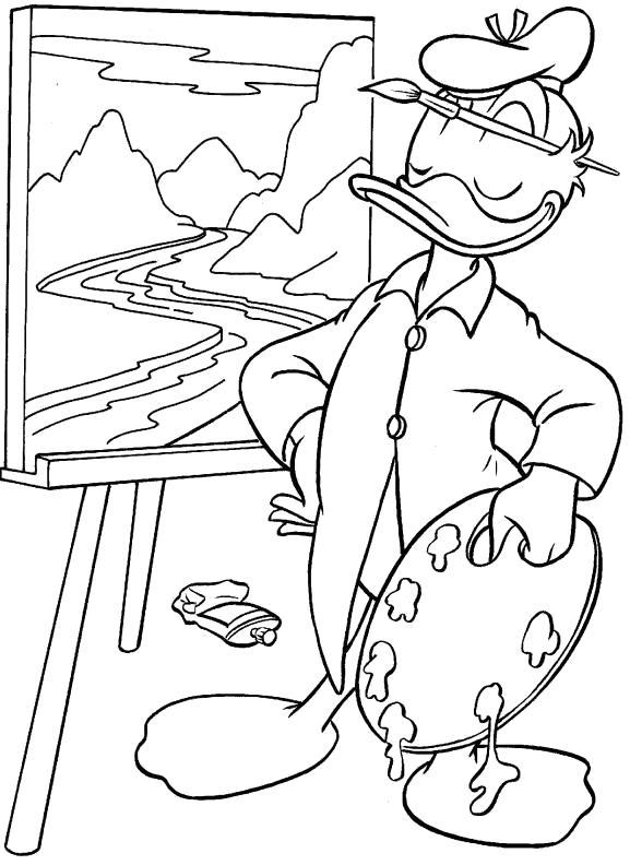 Название: Раскраска Детские раскраски - Дональд Дак. Категория: Дональд Дак. Теги: Дональд Дак.