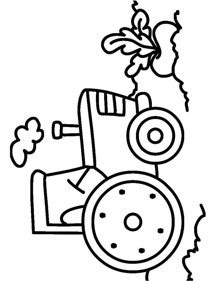 Раскраска Трактор, машина, . Скачать .  Распечатать