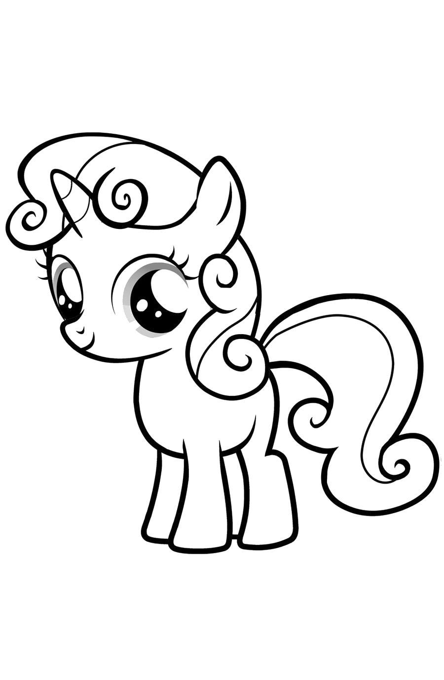 Раскраска  мой маленький пони малышка пони. Скачать Дружба это чудо.  Распечатать Дружба это чудо