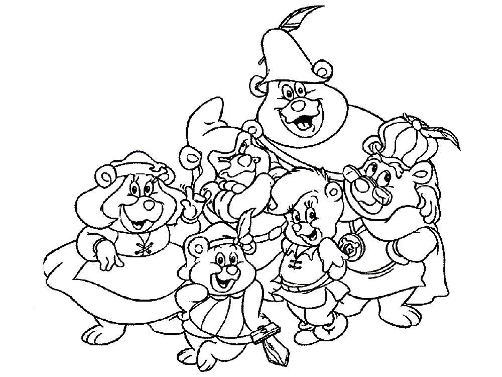 Раскраска  для детей мишки Гамми. Скачать Мишки Гамми.  Распечатать Мишки Гамми